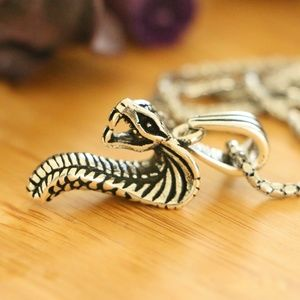 Sterling Silver COBRA Men's Necklace